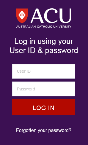 Log in using your User ID